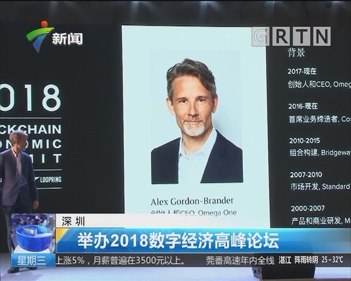深圳:举办2018数字经济高峰论坛