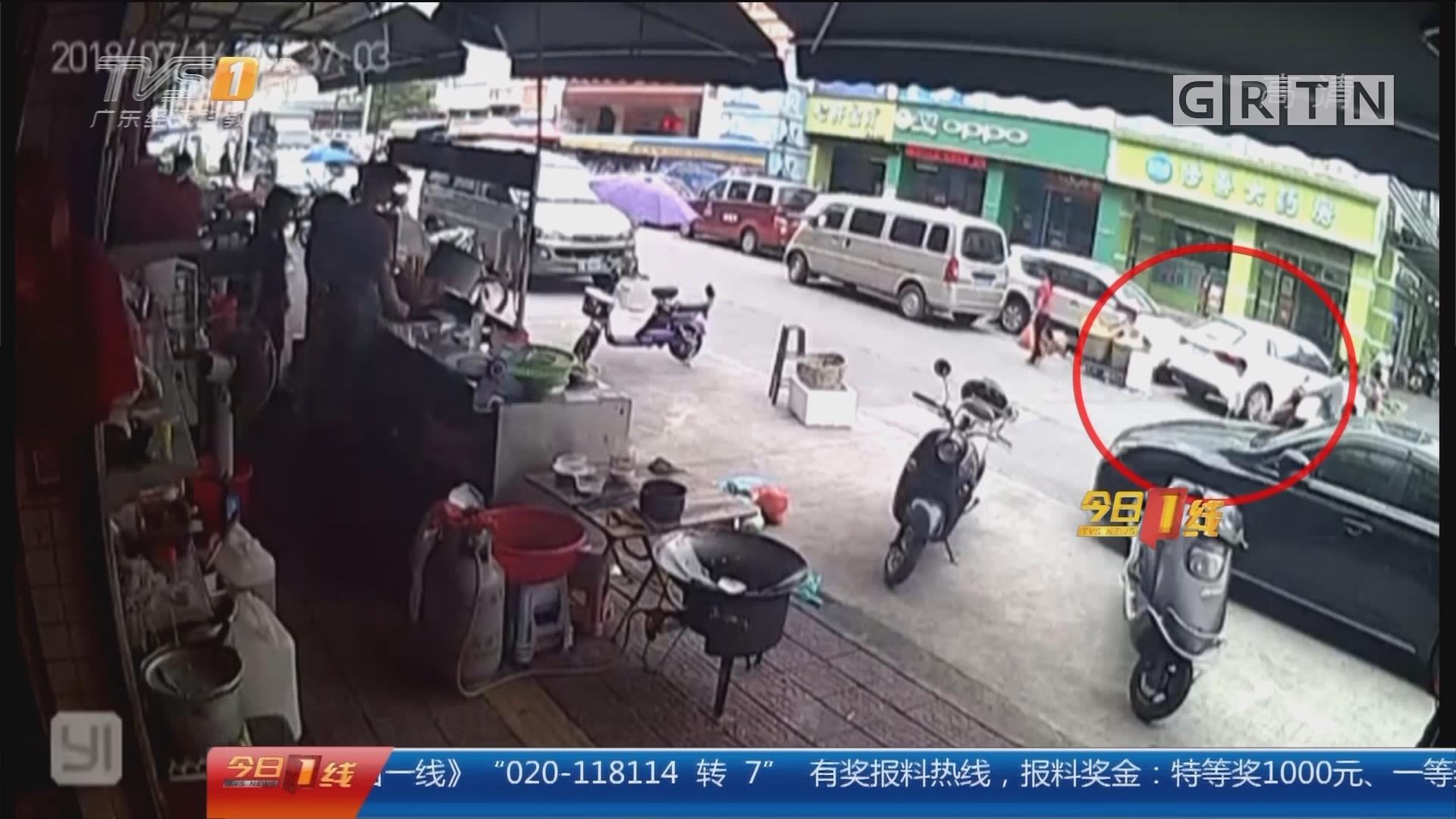 佛山:男子骑摩托撞倒男童 协商未果离开