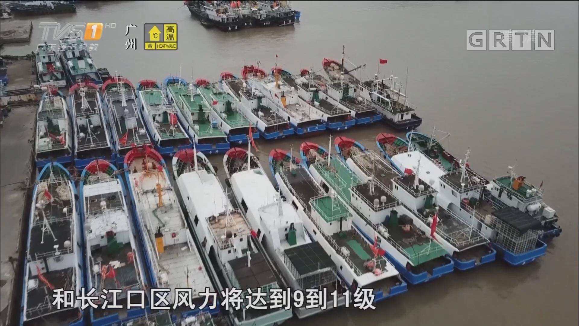 """台风""""安比""""在上海登陆 中心附近最大风力10级"""