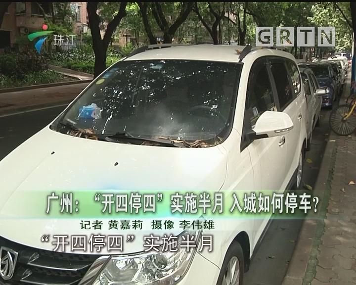 """广州:""""开四停四""""实施半月 入城如何停车?"""