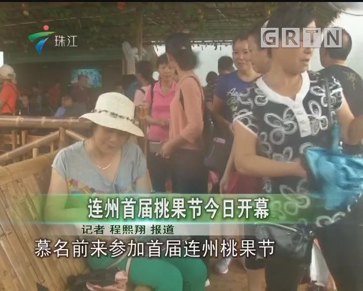 连州首届桃果节今日开幕