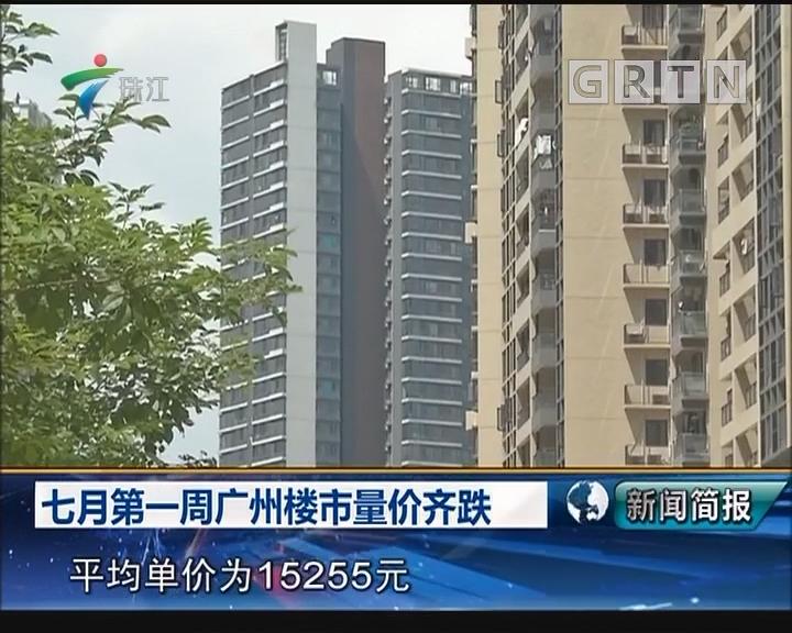七月第一周广州楼市量价齐跌