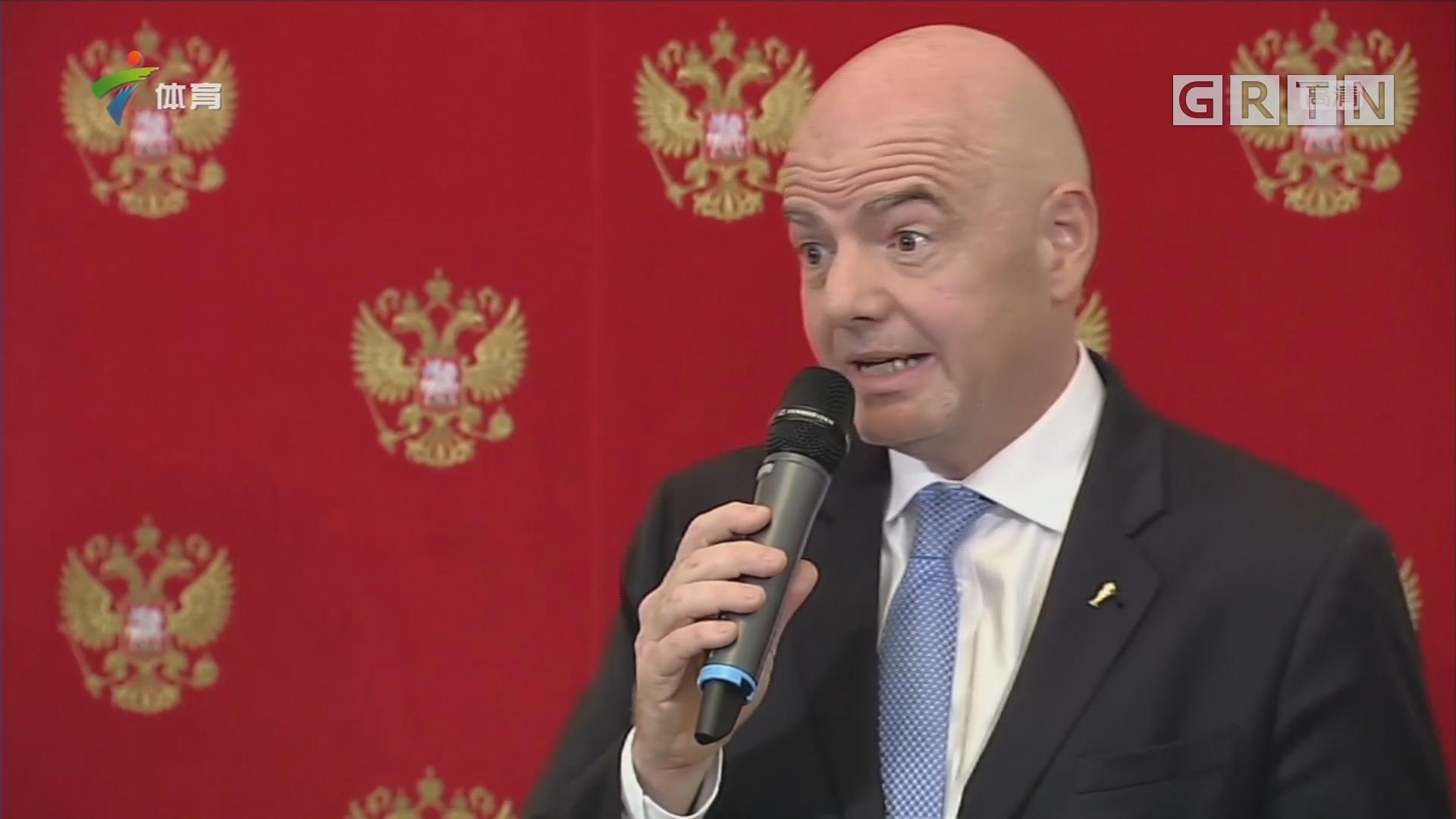 从俄罗斯到卡塔尔 普京出席世界杯交接仪式