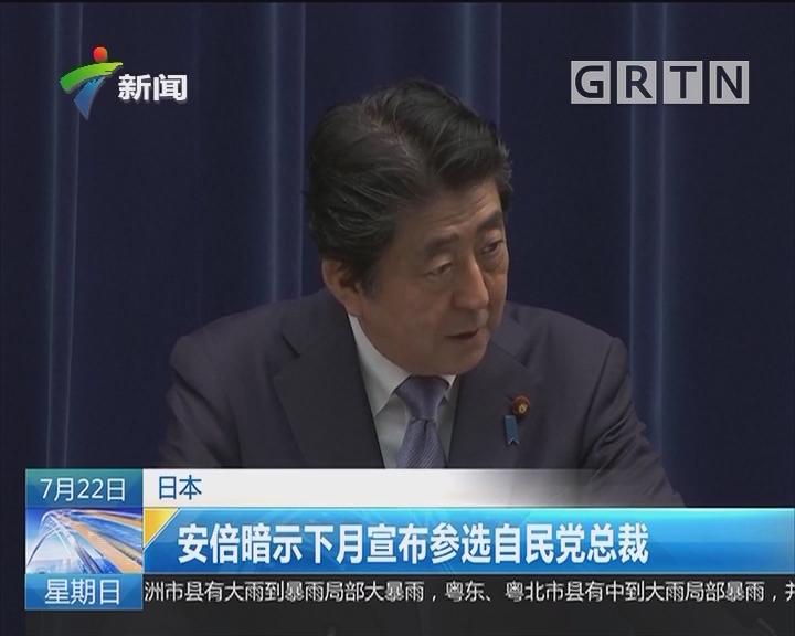 日本:安倍暗示下月宣布参选自民党总裁