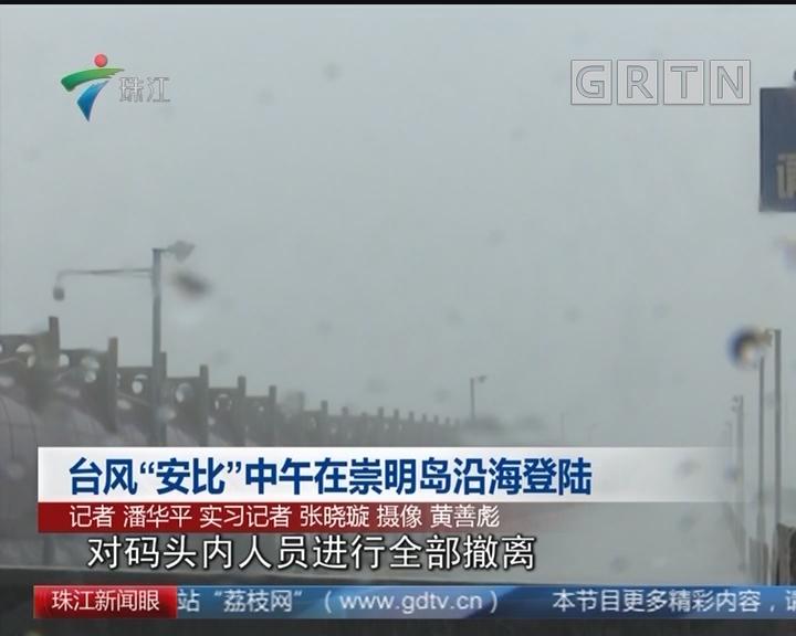 """台风""""安比""""中午在崇明岛沿海登陆"""
