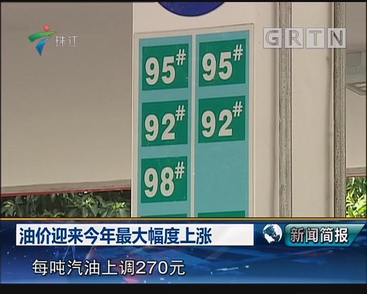 油价迎来今年最大幅度上涨