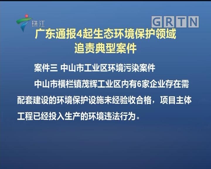 广东通报4起生态环境保护领域追责典型案件