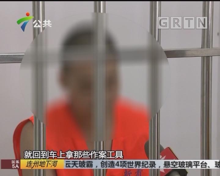 江门:小车被砸窗盗窃 嫌疑人曾在多地作案