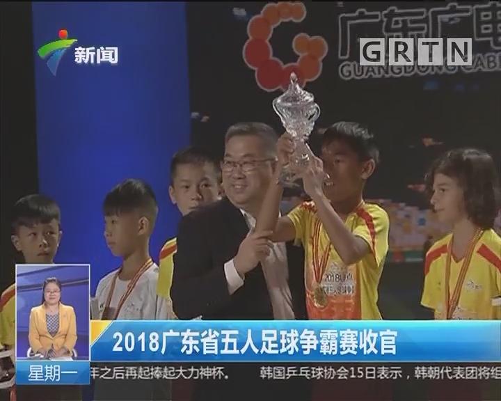 2018广东省五人足球争霸赛收官