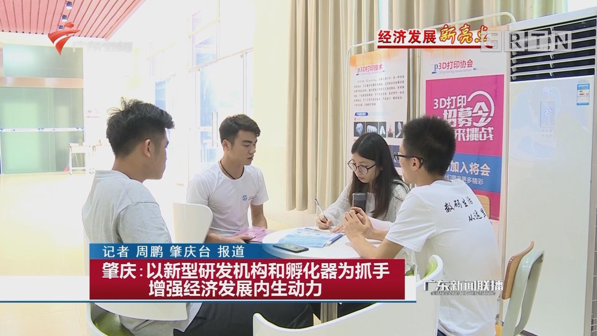 肇庆:以新型研发机构和孵化器为抓手增强经济发展内生动力