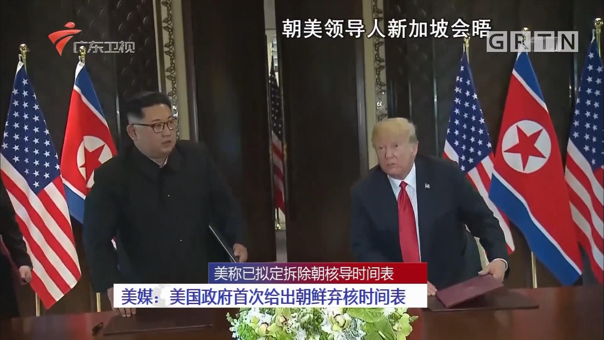 美称已拟定拆除朝核导时间表 美媒:美国政府首次给出朝鲜弃核时间表