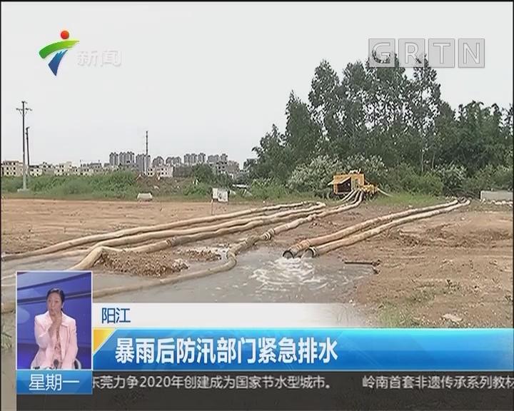 阳江:暴雨后防汛部门紧急排水