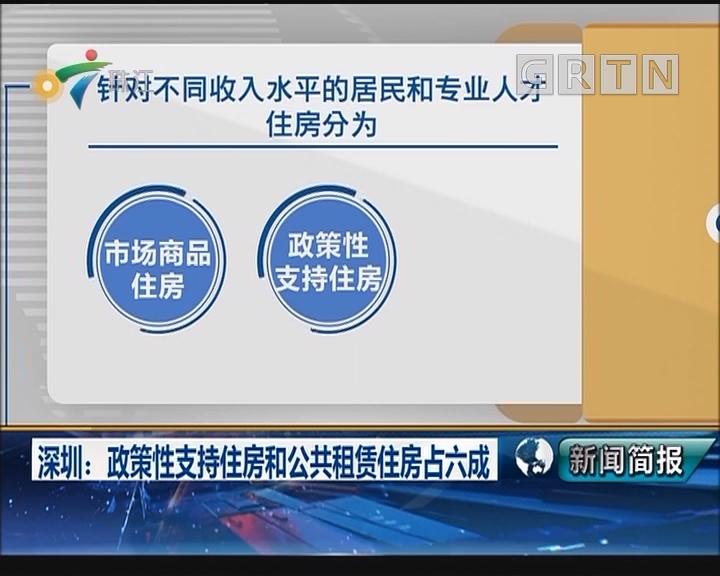 深圳:政策性支持住房和公共租赁住房占六成