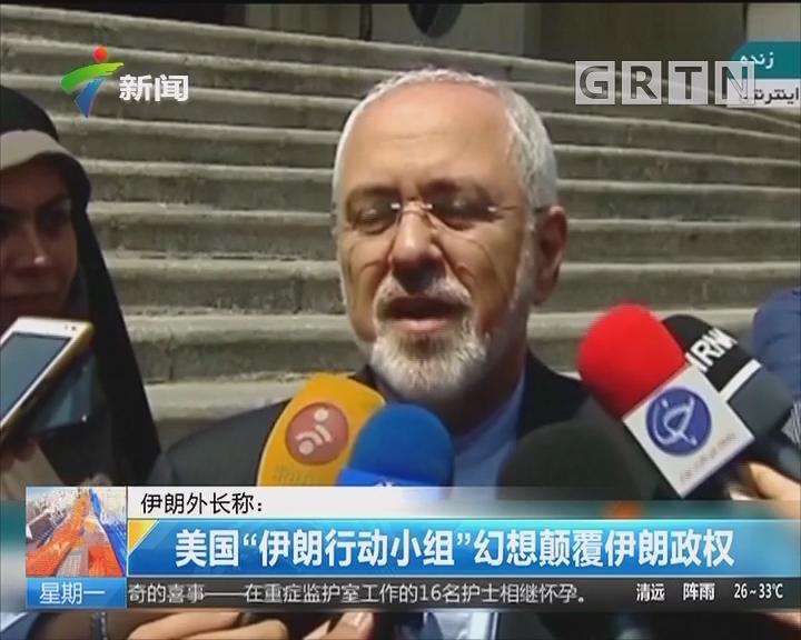 """伊朗外长称:美国""""伊朗行动小组""""幻想颠覆伊朗政权"""