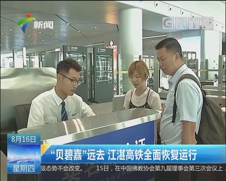 """""""贝碧嘉""""远去 江湛高铁全面恢复运行"""