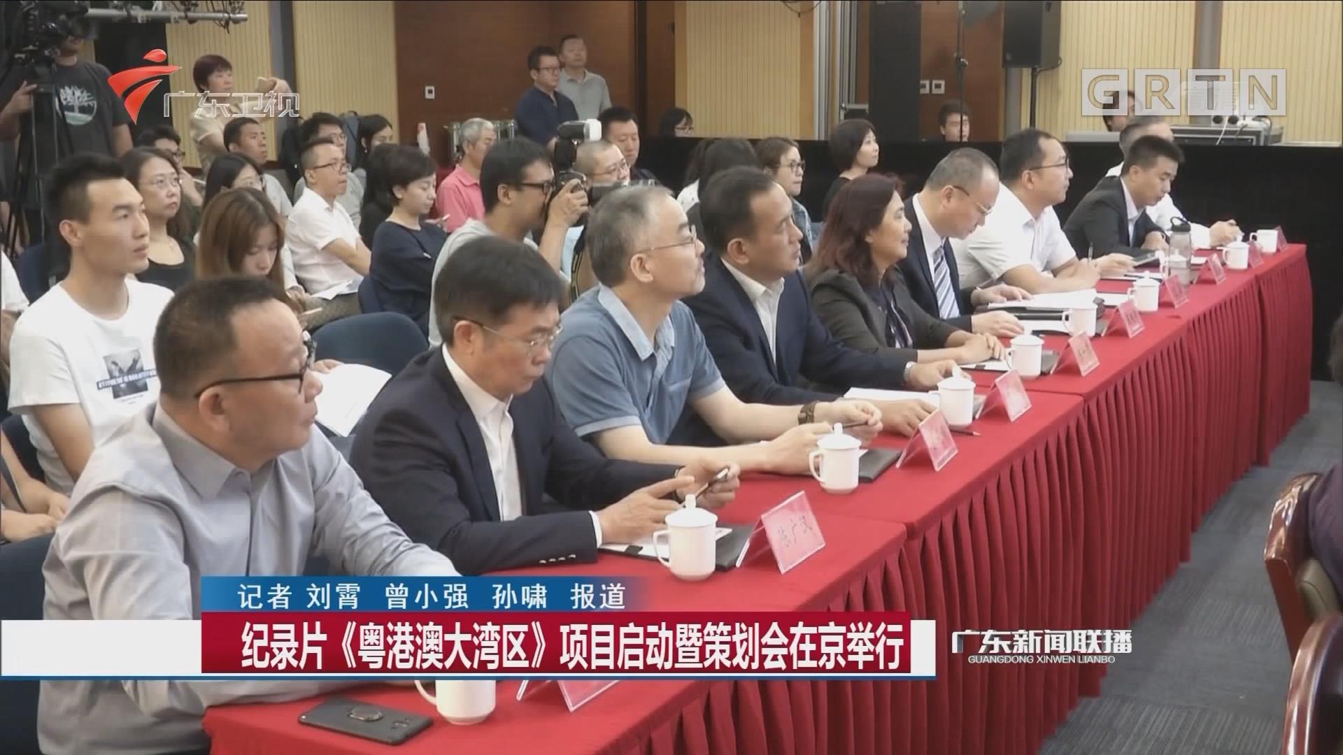 纪录片《粤港澳大湾区》项目启动暨策划会在京举行