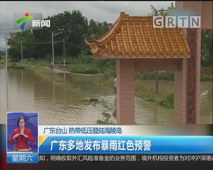 广东台山 热带低压登陆阳江海陵岛:广东多地发布暴雨红色预警
