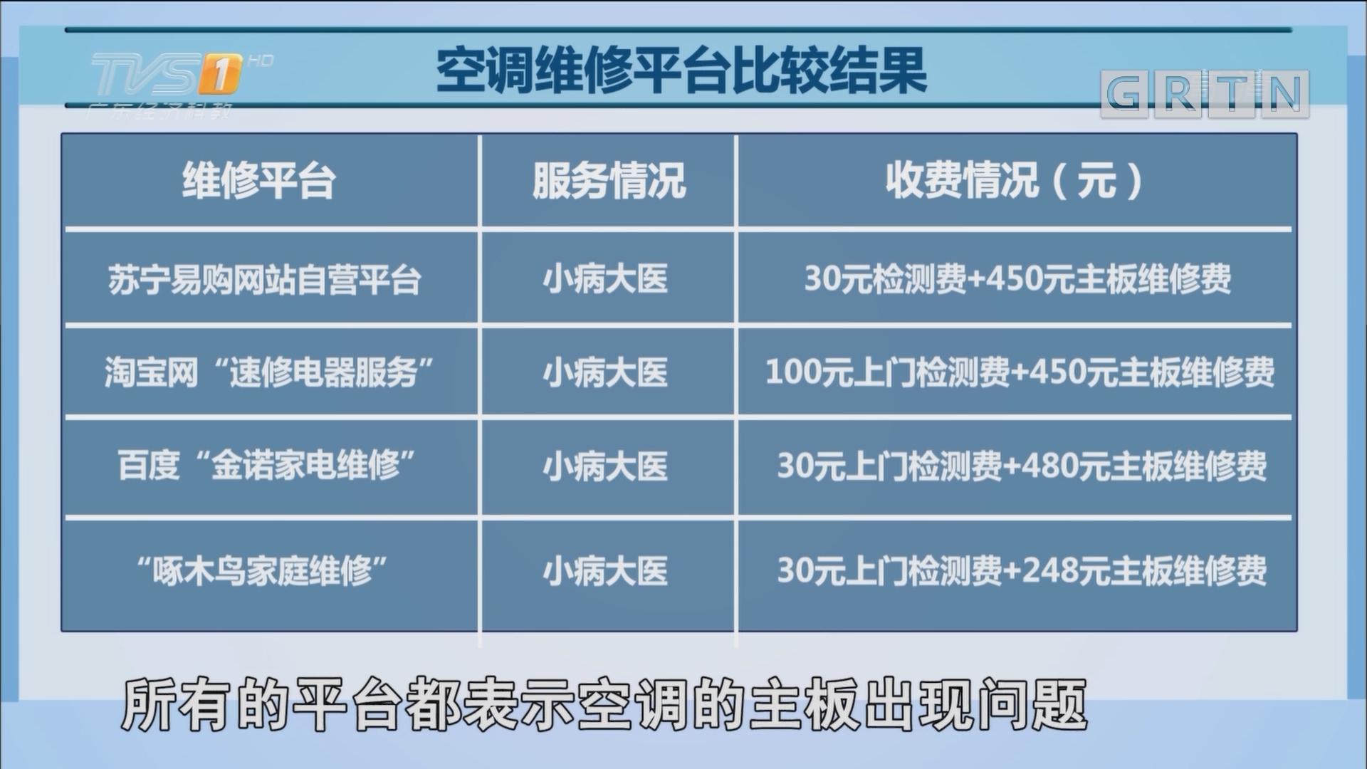 """网络家电维修平台服务水平大测试""""小病大医""""是常态(下)"""