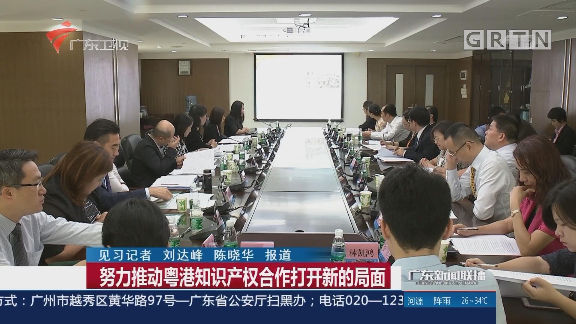 努力推动粤港知识产权合作打开新的局面