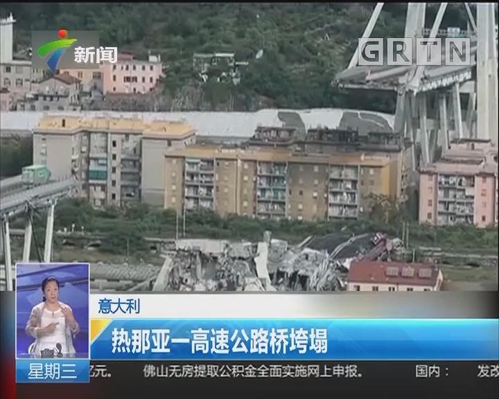 意大利:热那亚一高速公路桥垮塌