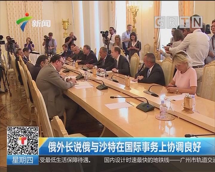 俄外长说俄与沙特在国际事务上协调良好