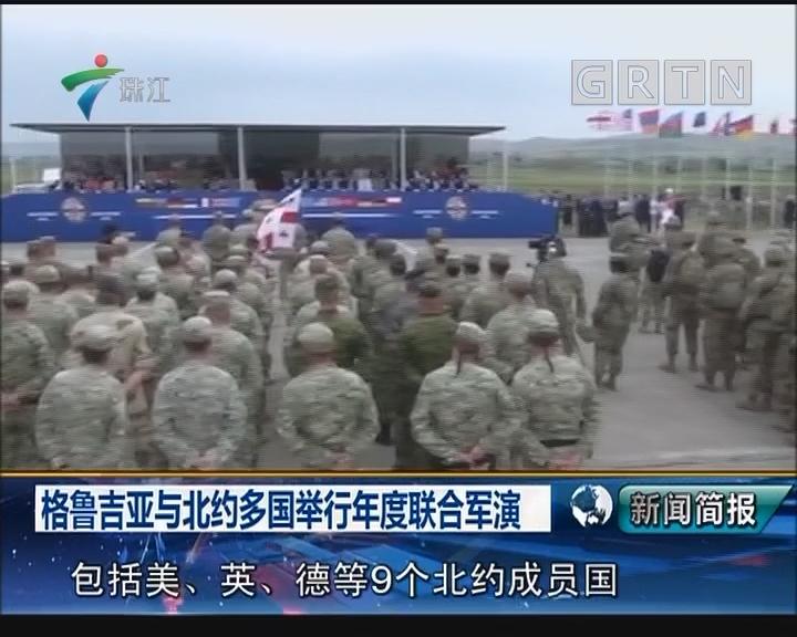 格鲁吉亚与北约多国举行年度联合军演