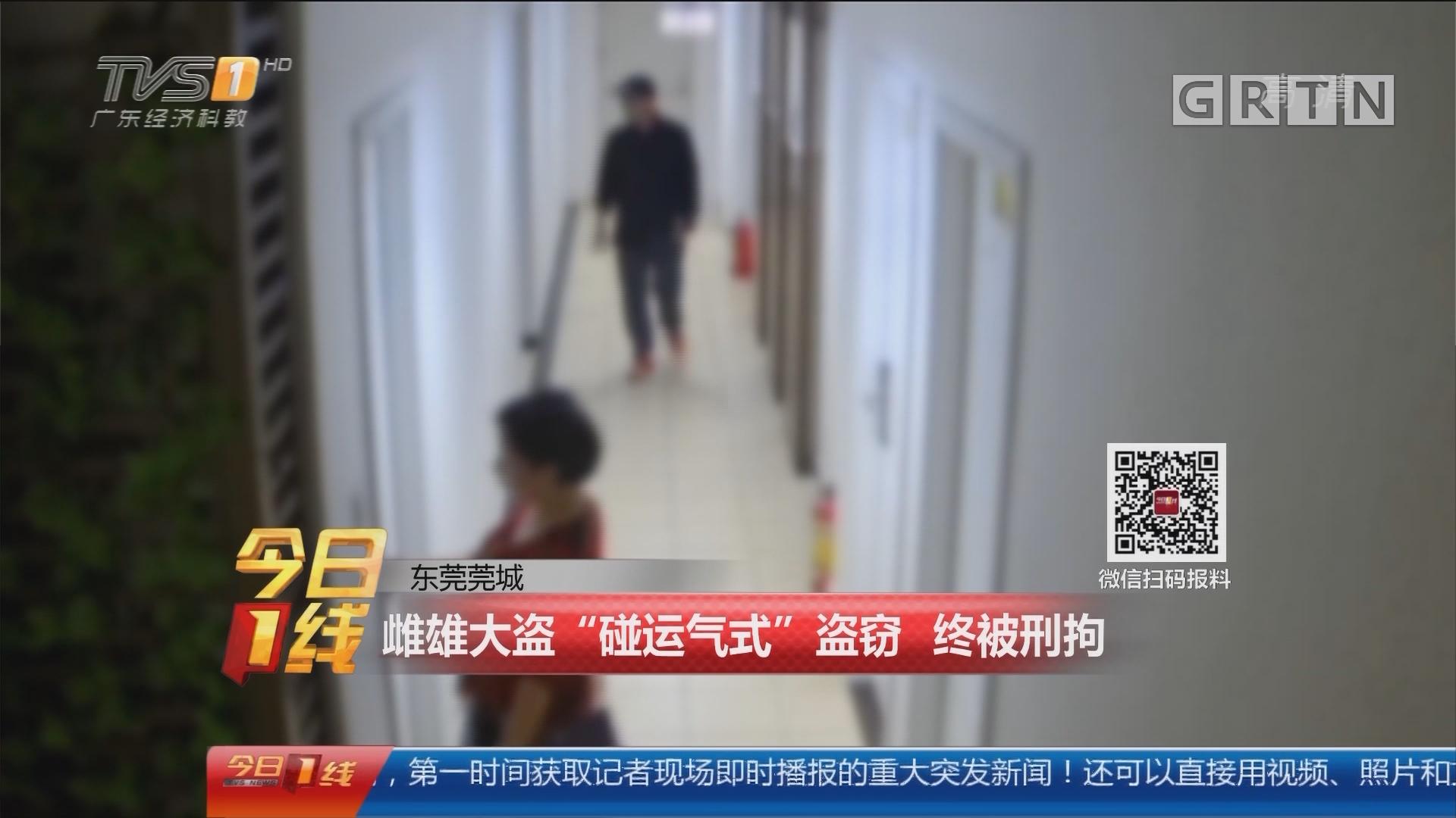 """东莞莞城:雌雄大盗""""碰运气式""""盗窃 终被刑拘"""
