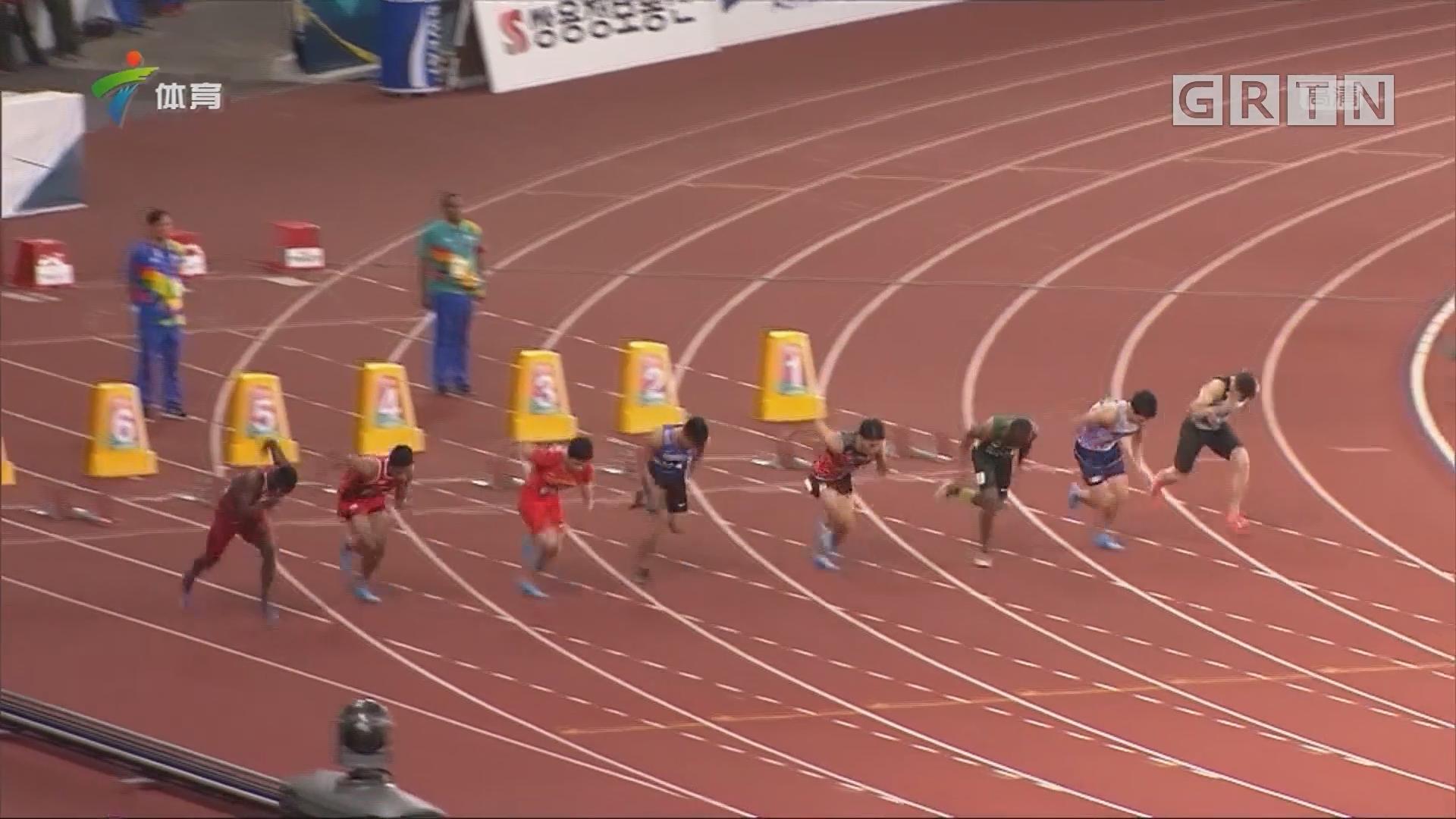 亚运会男子100米决赛 苏炳添破赛会记录夺冠