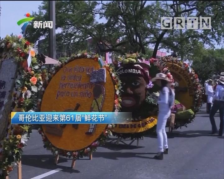 """哥伦比亚迎来第61届""""鲜花节"""""""