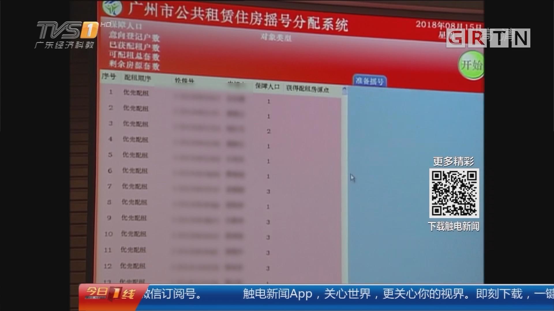 广州公租房摇号:4943户取得户籍公租房预配租资格
