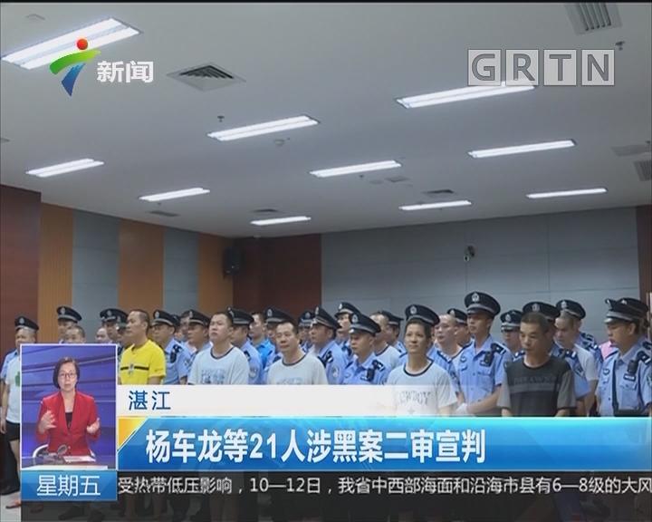 湛江:杨车龙等21人涉黑案二审宣判