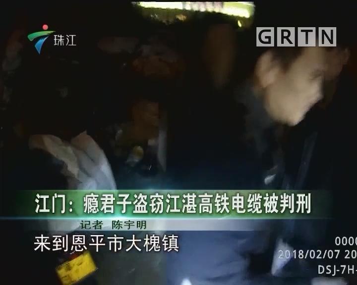 江门:瘾君子盗窃江湛高铁电缆被判刑
