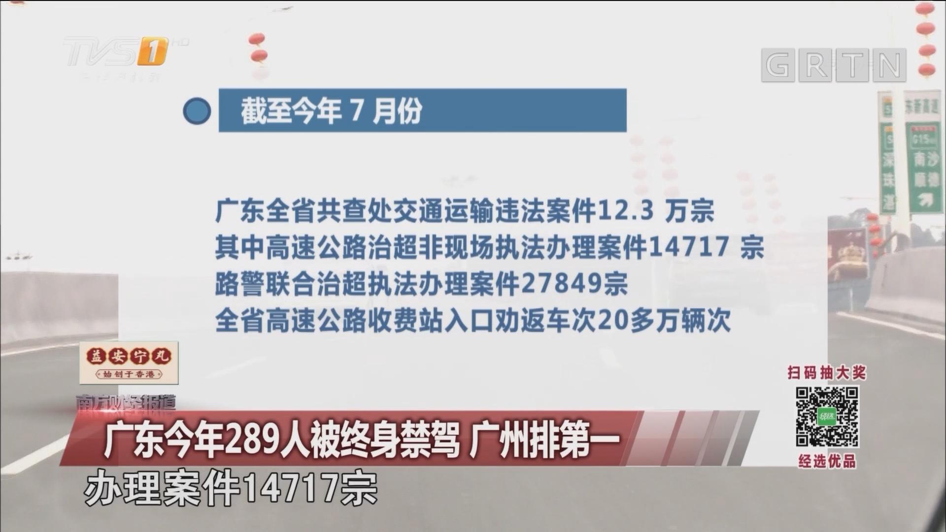 广东今年289人被终身禁驾 广州排第一