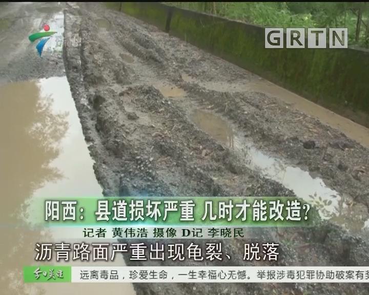 阳西:县道损坏严重 几时才能改造?