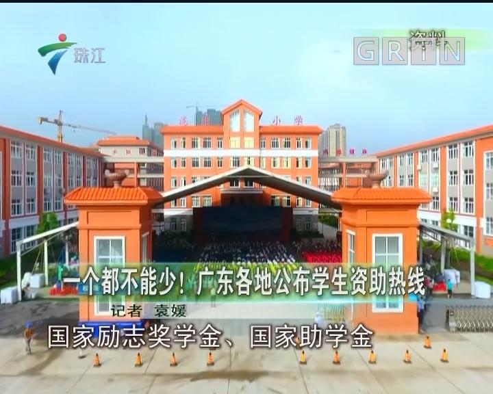一个都不能少!广东各地公布学生资助热线