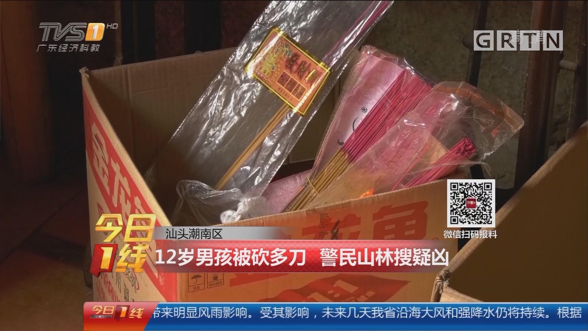 汕头潮南区:12岁男孩被砍多刀 警民山林搜疑凶