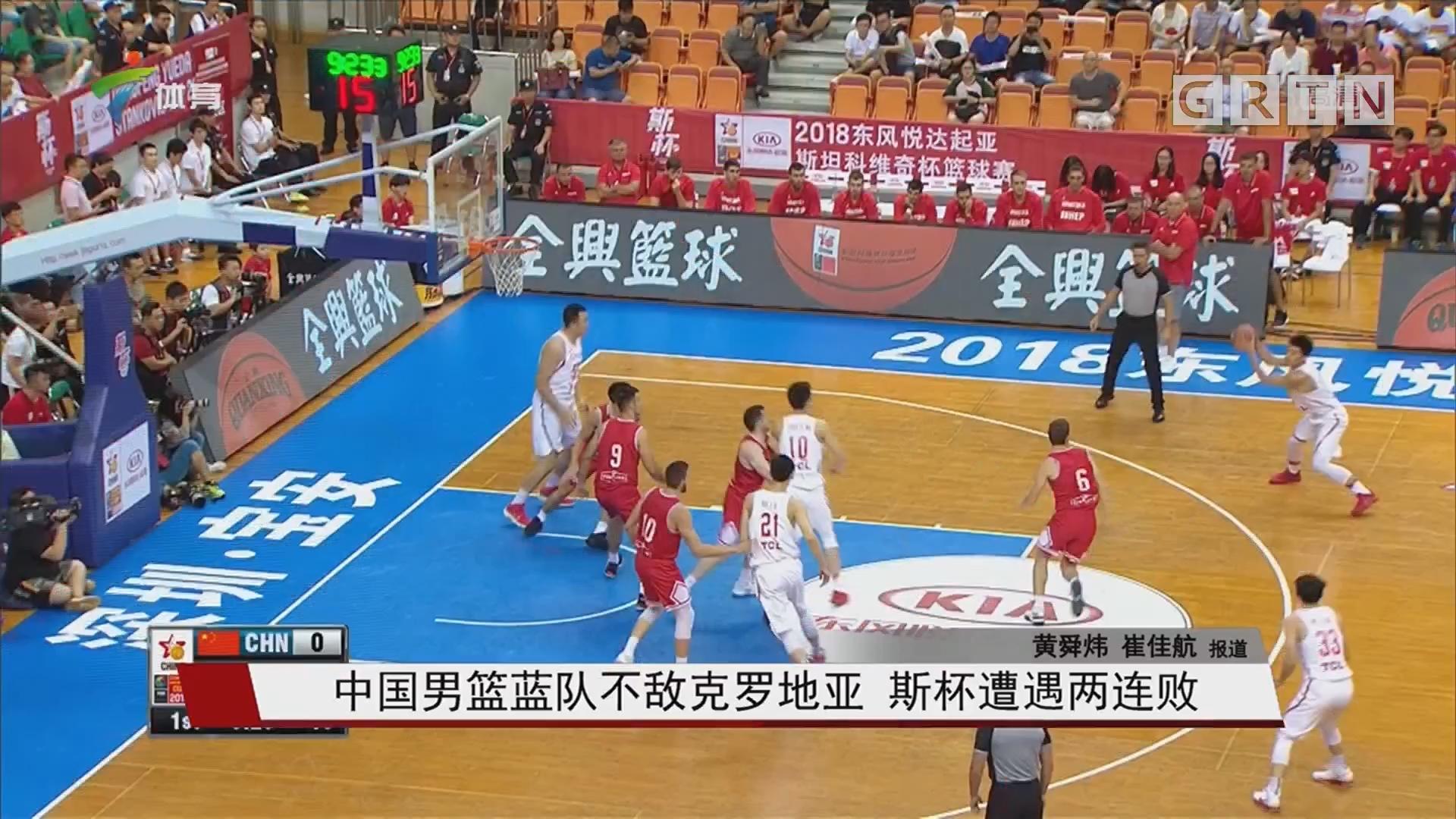 中国男篮蓝队不敌克罗地亚 斯杯遭遇两连败