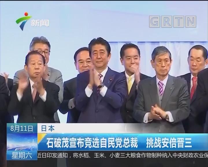日本:石破茂宣布竞选自民党总裁 挑战安倍晋三