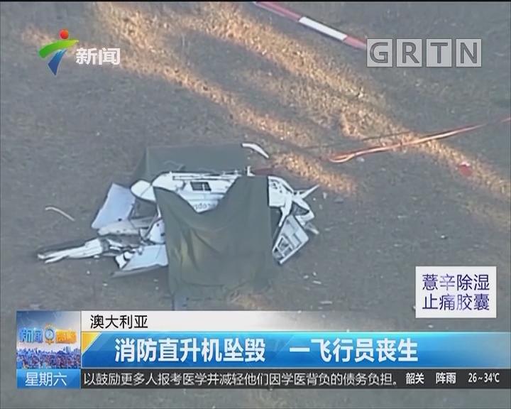 澳大利亚:消防直升机坠毁 一飞行员丧生