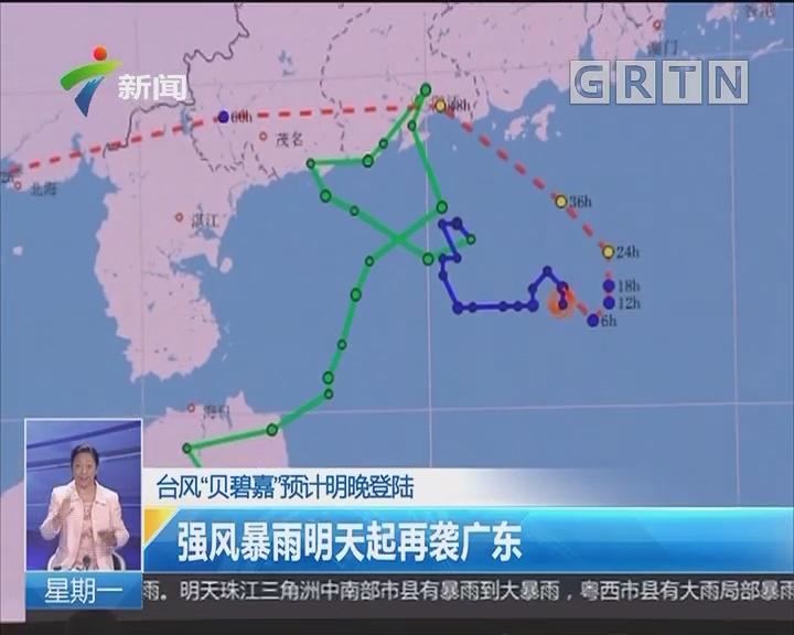 """台风""""贝碧嘉""""预计明晚登陆:强风暴雨明天起再袭广东"""