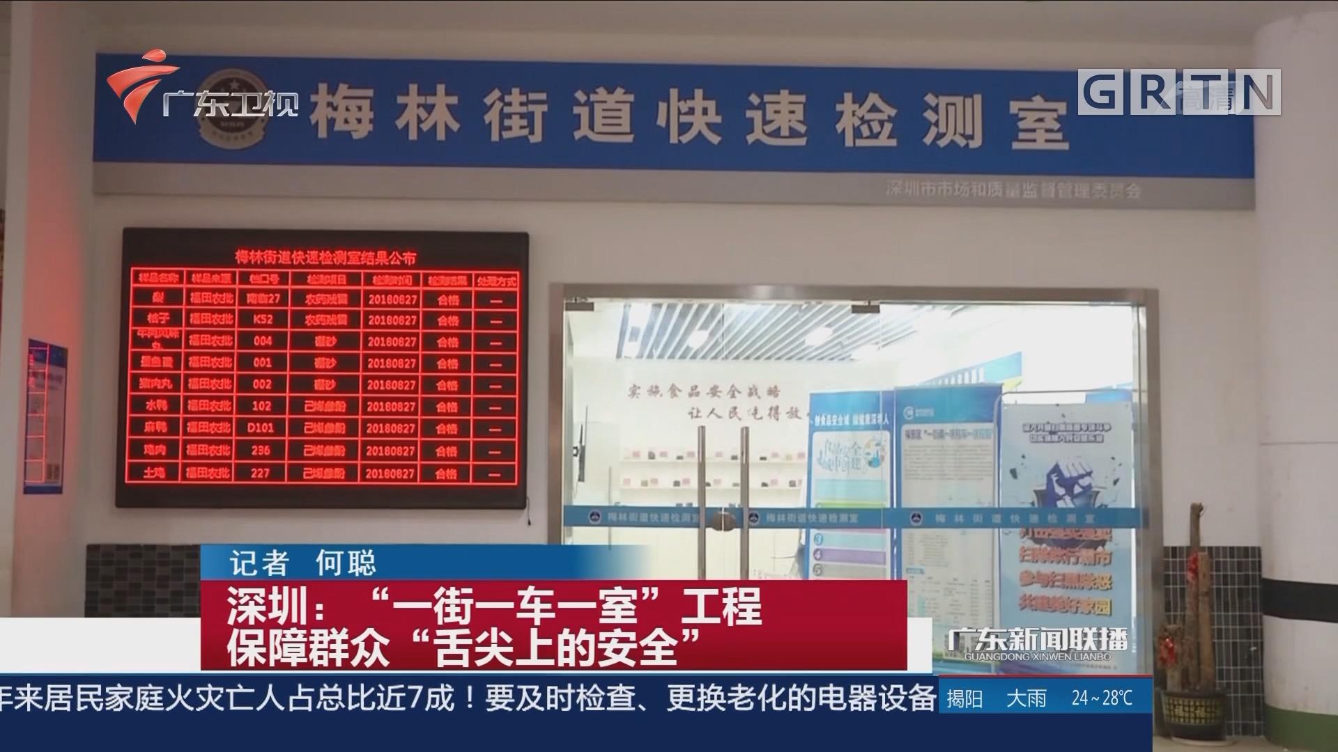 """深圳:""""一街一车一室""""工程 保障群众""""舌尖上的安全"""""""