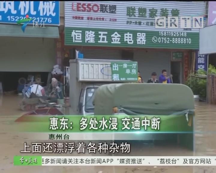 惠东:多处水浸 交通中断