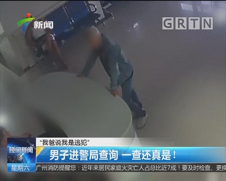 """""""我爸说我是逃犯"""":男子进警局查询 一查还真是!"""