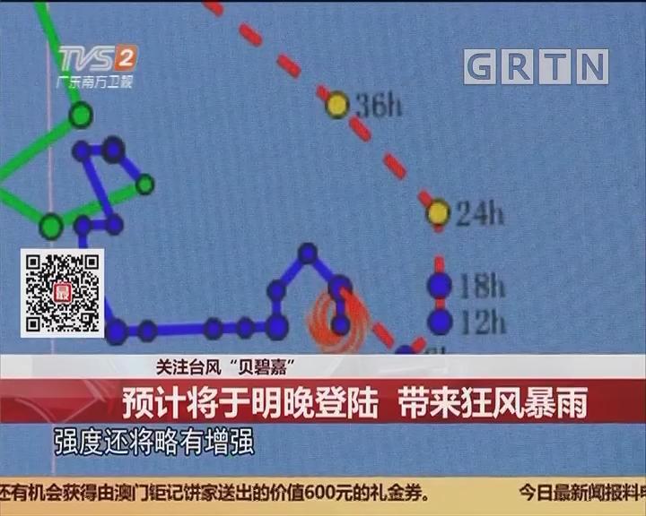 """关注台风""""贝碧嘉"""":预计将于明晚登陆 带来狂风暴雨"""