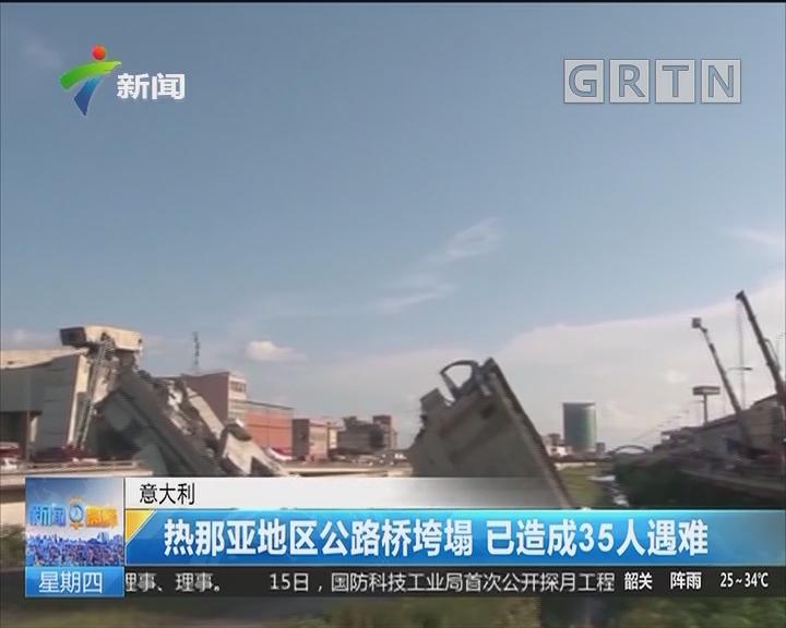 意大利:热那亚地区公路桥垮塌 已造成35人遇难