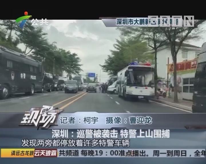 深圳:巡警被袭击 特警上山围捕