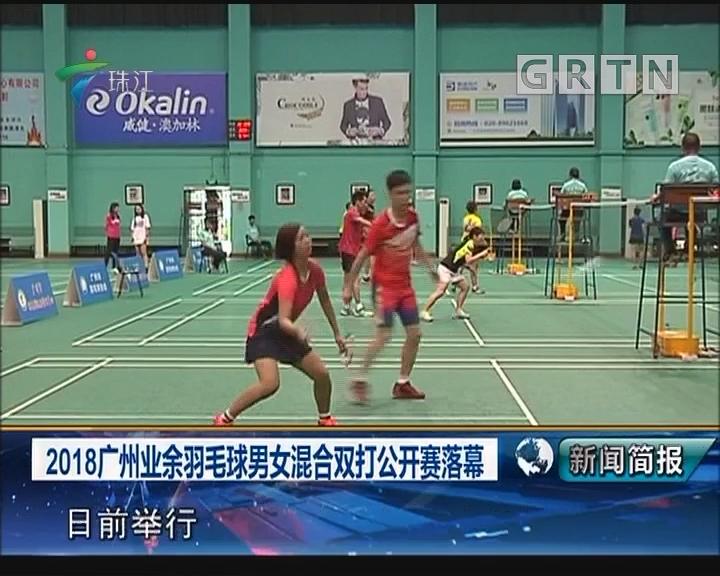 2018广州业余羽毛球男女混合双打公开赛落幕