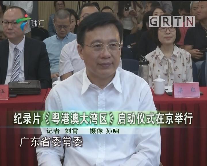 纪录片《粤港澳大湾区》启动仪式在京举行