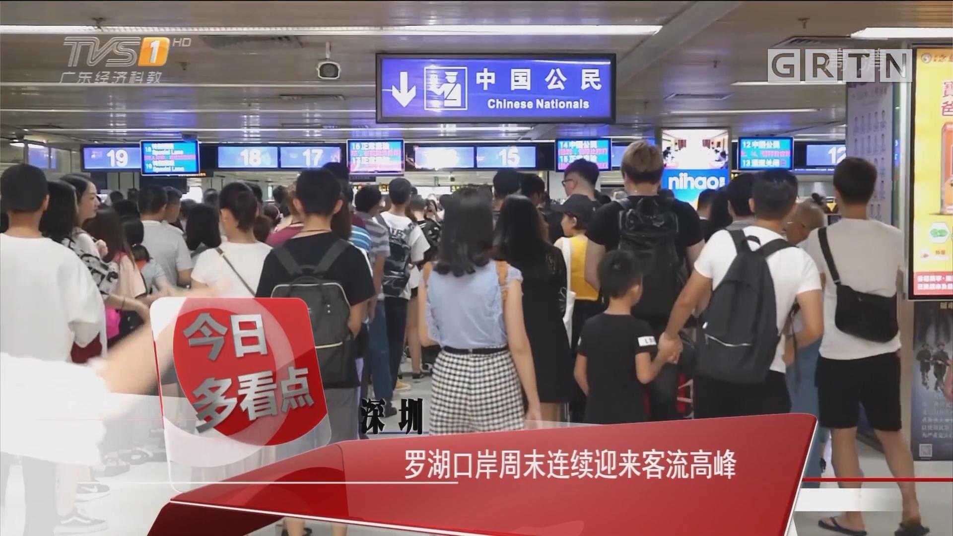 深圳:罗湖口岸周末连续迎来客流高峰