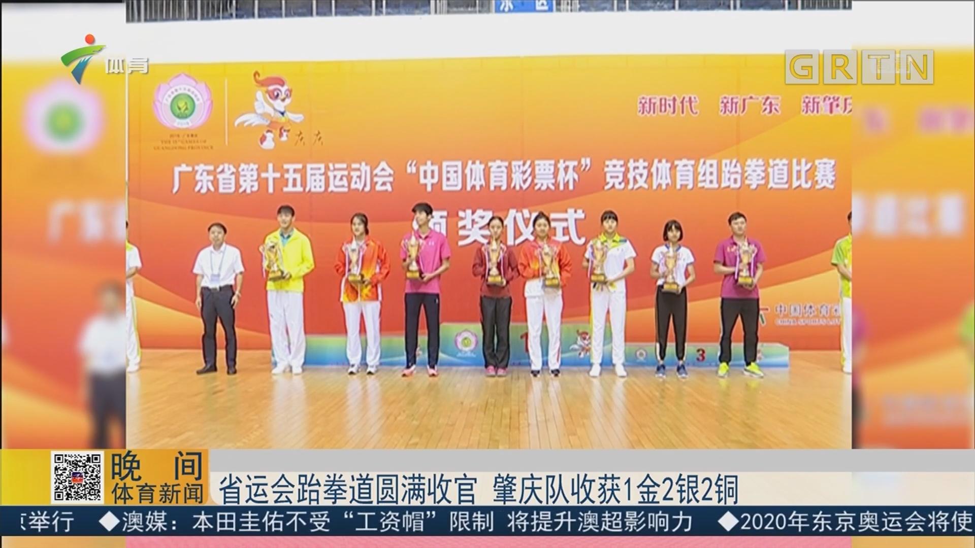 省运会跆拳道圆满收官 肇庆队收获1金2银2铜